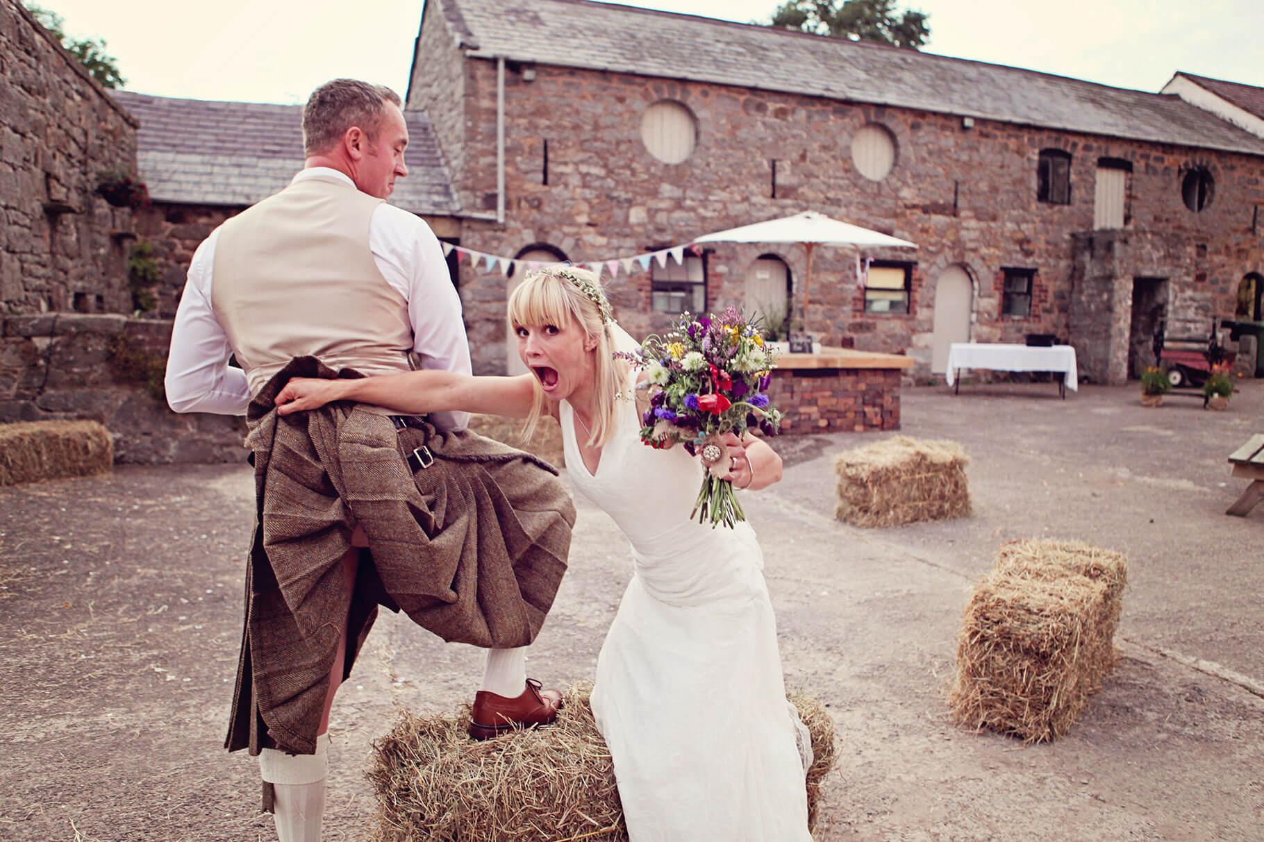 Fun Wedding Photography in Somerset