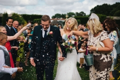 Fun wedding confetti photo
