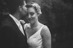 Romantic Black and white bride and groom