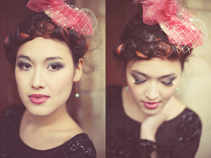 Vintage Fascinator Shoot.