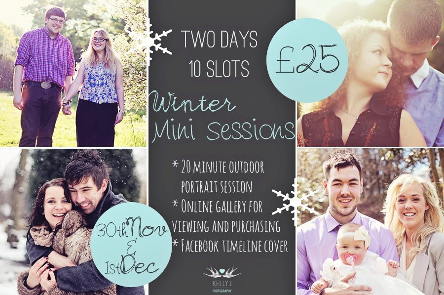 Winter Mini-Sessions Announcement – Chester Portrait Photographer