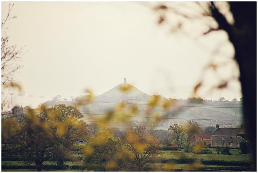 Glastonbury Tor view at the Crossways
