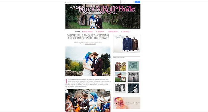 Rock N Roll Bride - Medieval Banquet Wedding