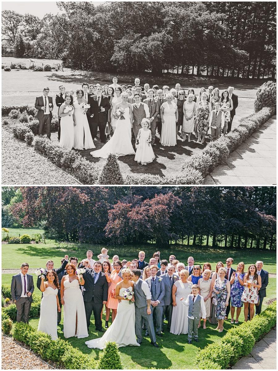 Big group wedding shot