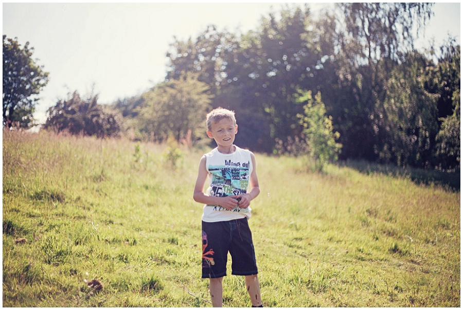 Photograph of child in field