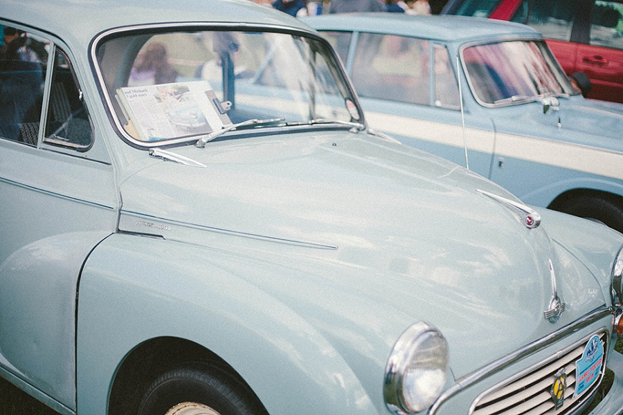 Classic car show in Shepton Mallet