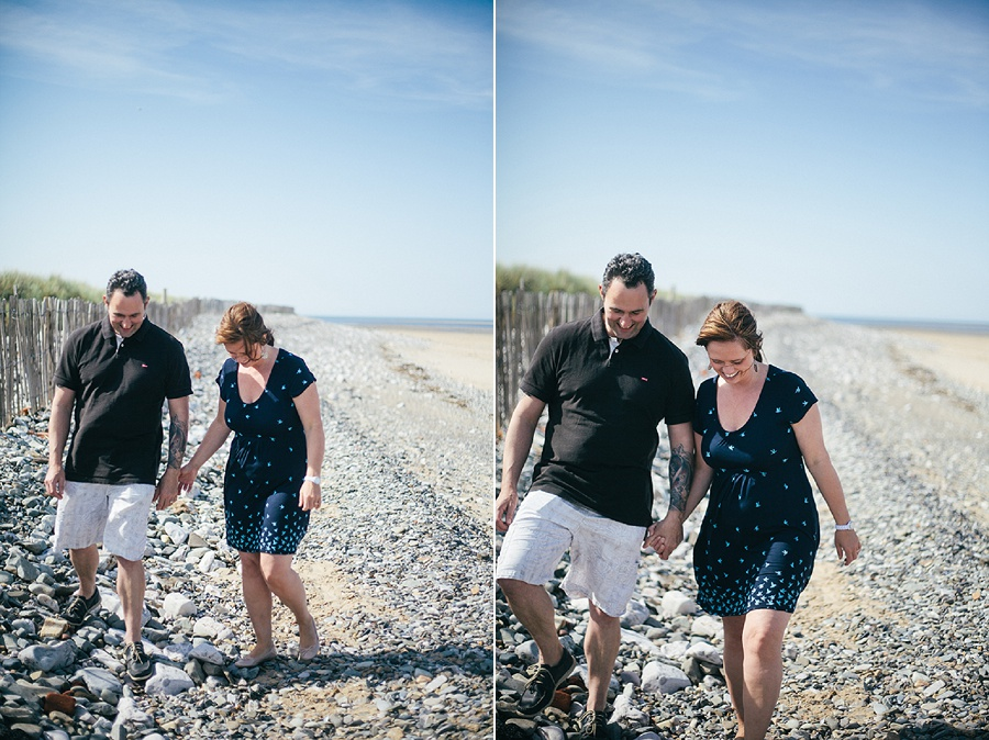 anniversary shoot on the beach