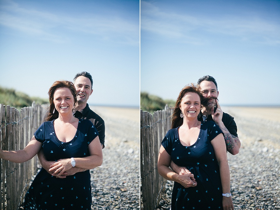 anniversary shoot on the beach