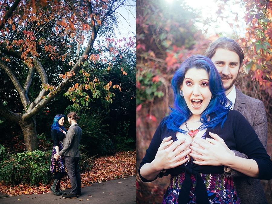 Autumn Engagement Shoot - Alexandra Park, Hoole