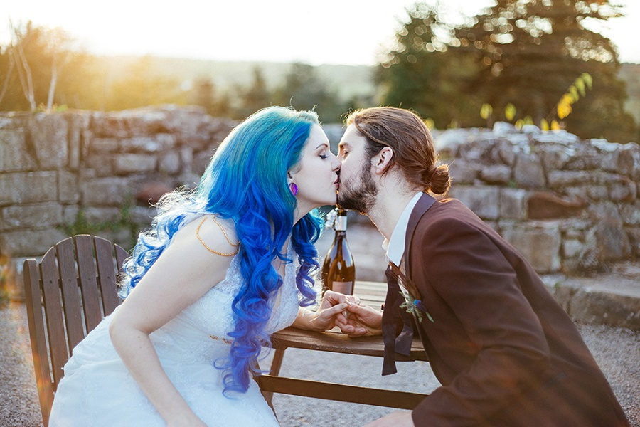Bride with Blue Hair - Wedding Photography