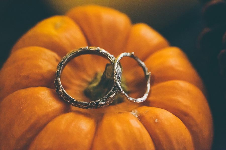 Pumpkin Ring Shot - Wedding Photography