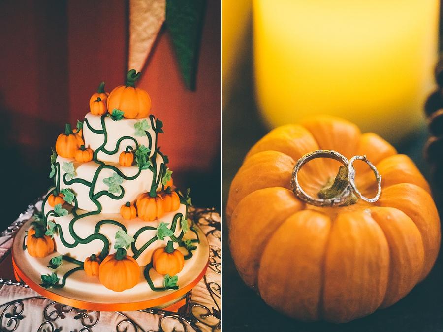 Pumpkin Wedding Cake and Ring Shot