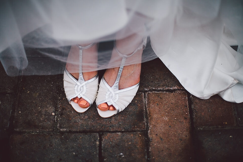 Bride and Groom Portrait Photography Rainbow Themed Wedding in the Rain