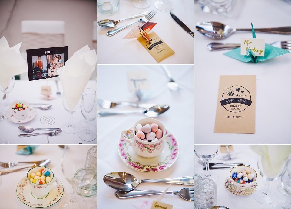 Table Details - Rainbow Themed Wedding in the Rain