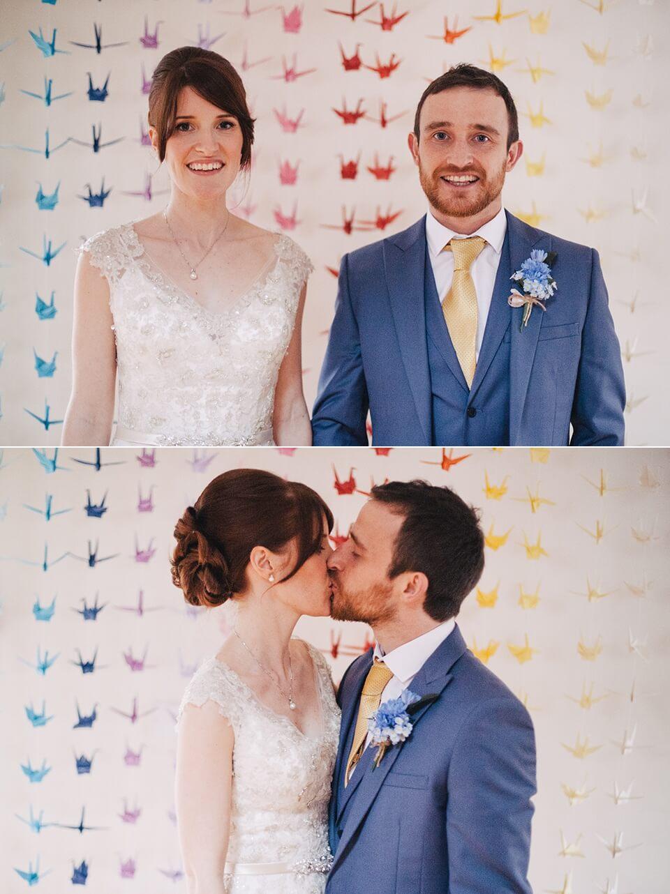 Bridal Portraits - Rainbow Origami Cranes