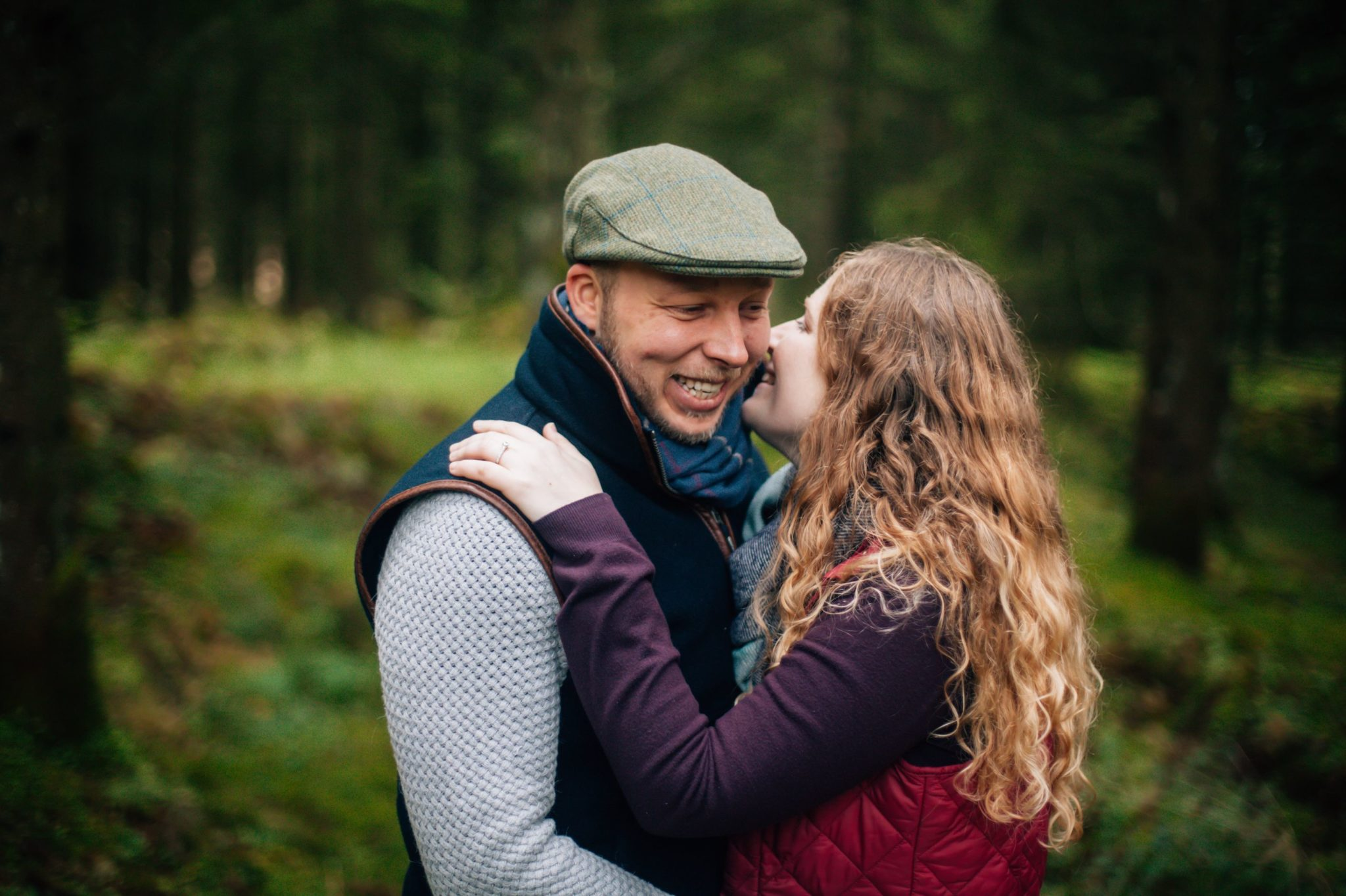 Engagement Photo Session in Stockhill Woods With Dog